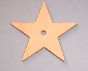 Medium Leather Star