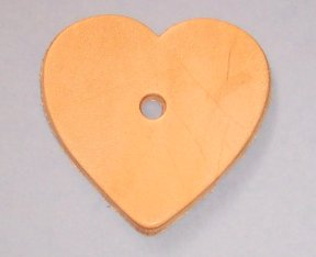 Medium Leather Heart