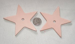 Large Leather Star
