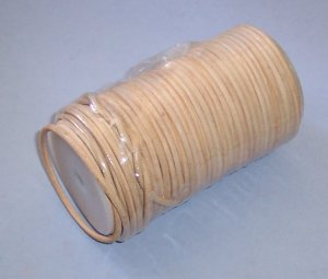 Round Leather Lace Spool, 1/8