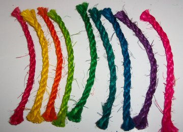 10ft Colored Sisal Rope, 1/4