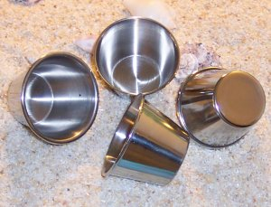 Stainless Steel Stacking Cups Set of 4