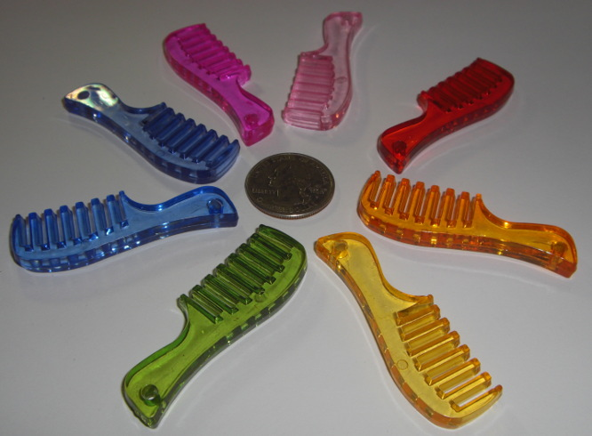 Acrylic Comb Charms Transparent