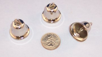Nickel Plated Liberty Bell, 25mm