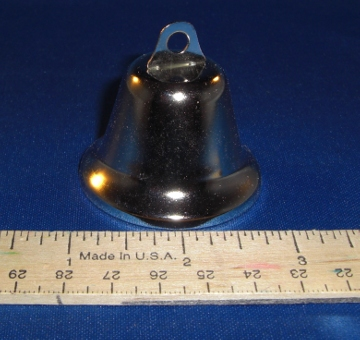 Nickel Plated Liberty Bell, 48mm