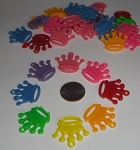Plastic Crown Beads
