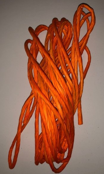 Orange Stripped Paper Straws (Dozen)