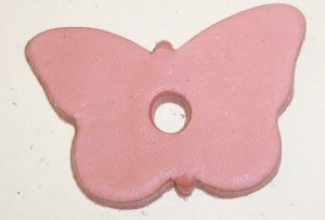 Small Leather Butterfly