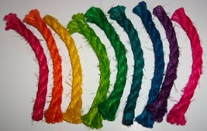 10ft Colored Sisal Rope, 3/8""